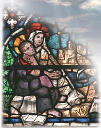 Santo Agostinho e Santa Mônica em êxtase (colegiata de Roncesvalles, Espanha)