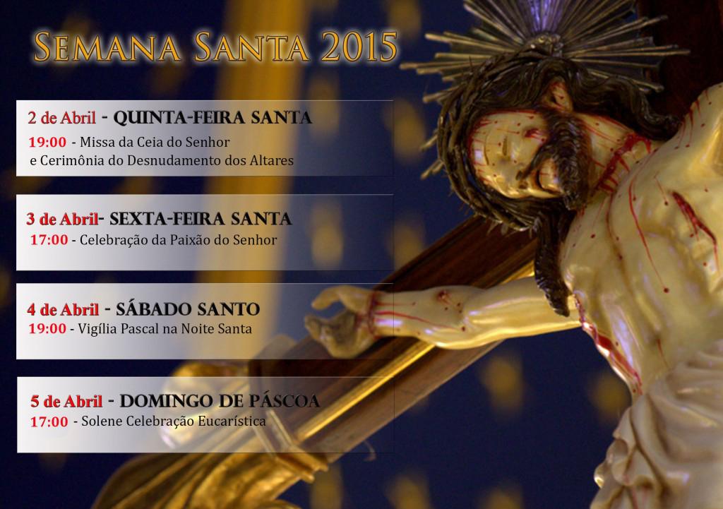 Horários Semana Santa 2015