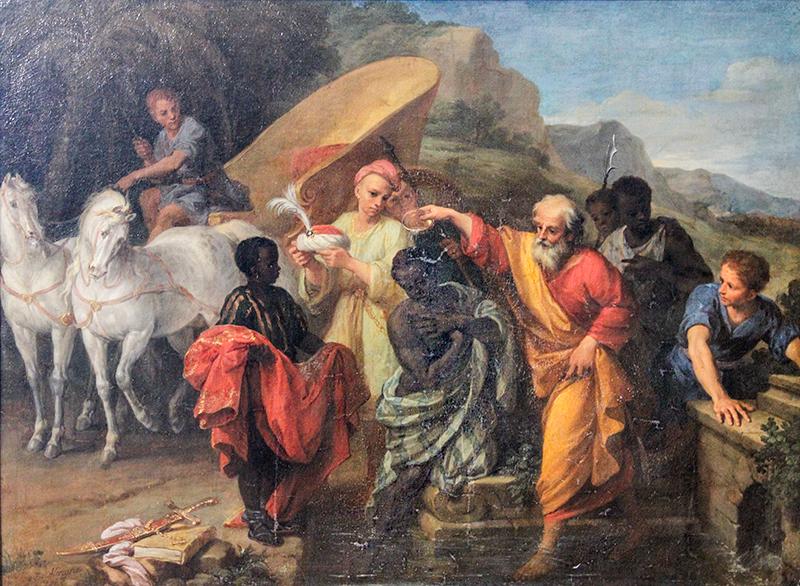 San Felipe apÛstol bautizando al Eunuco etÌope - Louis Boullog