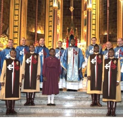 Após a primeira Missa com as irmãs africanas da Sociedade Regina Virginum, dos Arautos do Evangelho