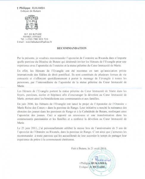 carta do bispo