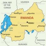 Republic of Rwanda - vector map