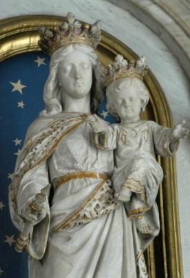 Detalhe da imagem de Nossa Senhora Auxiliadora - Igreja Sagrado Coração de Jesus