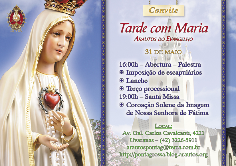 Convite: Tarde com Maria