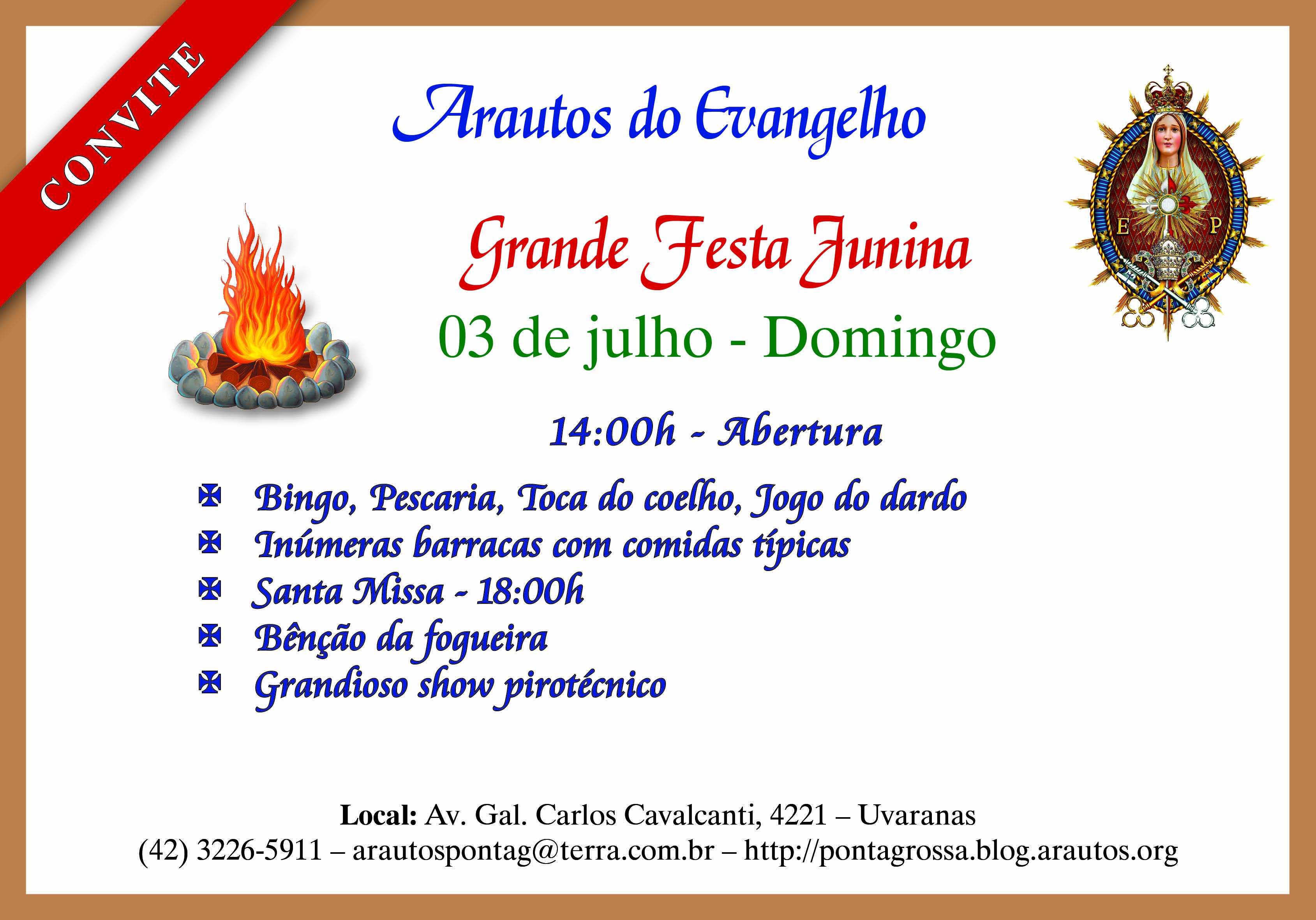 Convite – Festa Julina