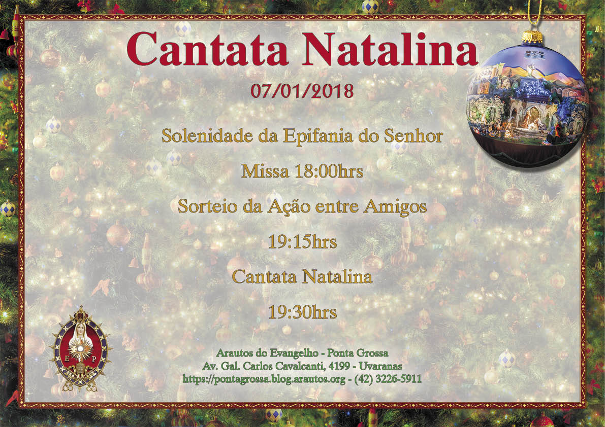 Convite: Missa, Sorteio e Cantata Natalina
