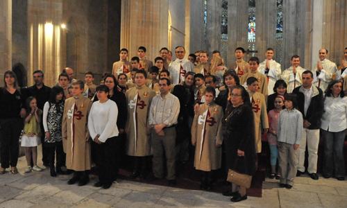 Familiares dos jovens que receberam o hábito dos Arautos do Evangelho
