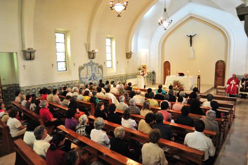 Eucaristia no convento das Dominicanas, em Fátima