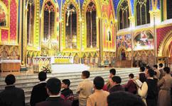 Celebração da Eucaristia presidida pelo P. Luiz Henrique