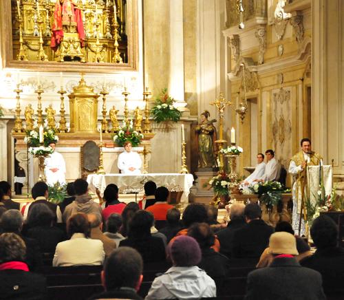 Missa de Natal, na Igreja de S. Nicolau