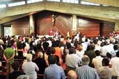 Missa dominical na Igreja da Lixa