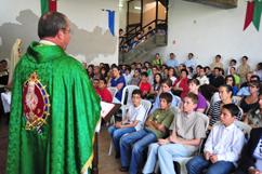 Missa presidida pelo P. Luiz Henrique