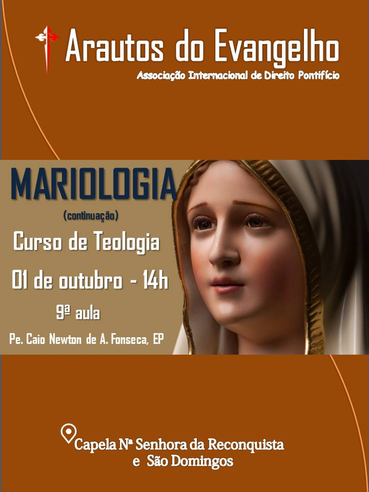 CONVITE PARA 9ª AULA DO CURSO DE TEOLOGIA