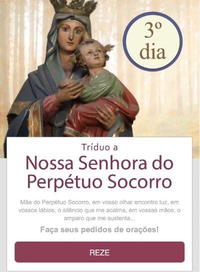 TRÍDUO A NOSSA SENHORA DO PERPÉTUO SOCORRO: MÃE, PROTEGEI-NOS!
