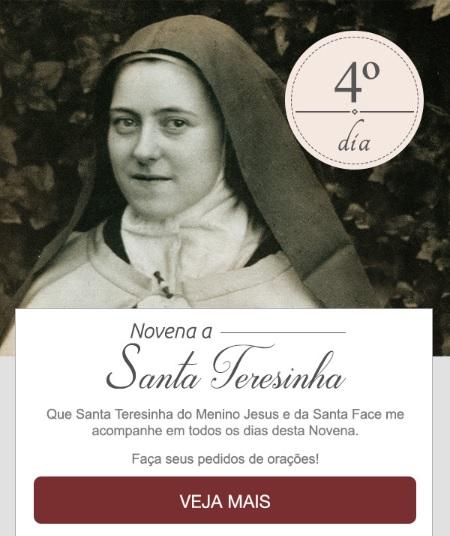 NOVENA A SANTA TERESINHA DO MENINO JESUS: SORRISO DE DEUS!