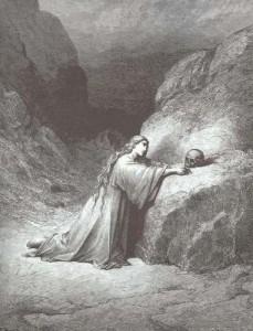 Santa María Magdalena en penitencia, según Gustavo Doré