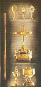 """Reliquias de la Pasión que se encuentran en la """"Iglesia de la Santa Cruz de Jerusalén"""""""