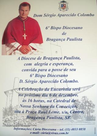 Novo Bispo Diocesano de Bragança Paulista
