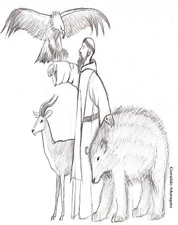 O Monge domador de animais