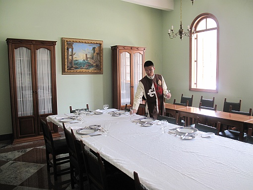 Detalhe em foto: sala de jantar