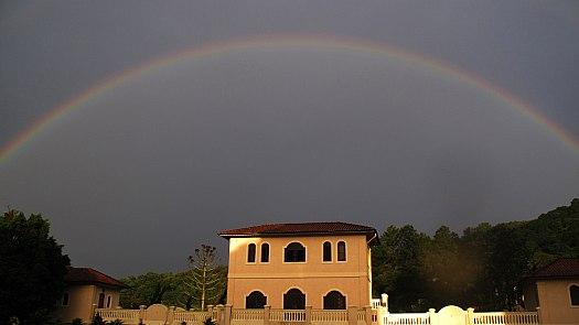 Detalhe em foto: arco-íris