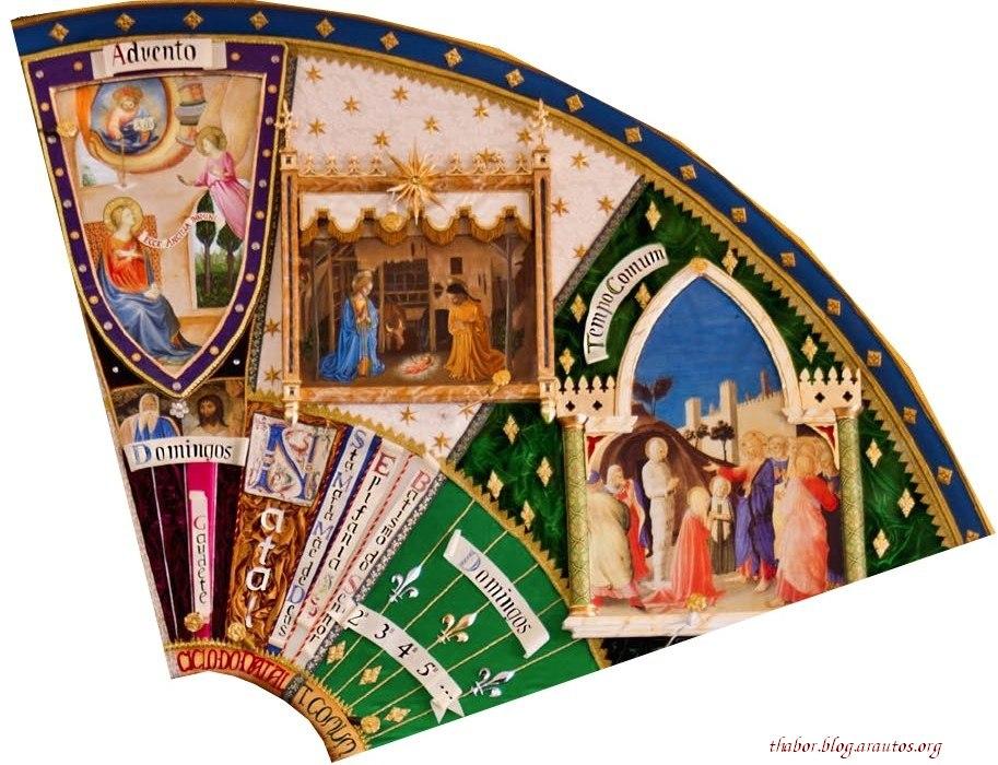 Detalhe em foto: Quadro do Ciclo litúrgico anual