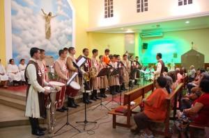 Cantata Natalina dos Arautos na Paróquia Virgem Maria - Cariacica
