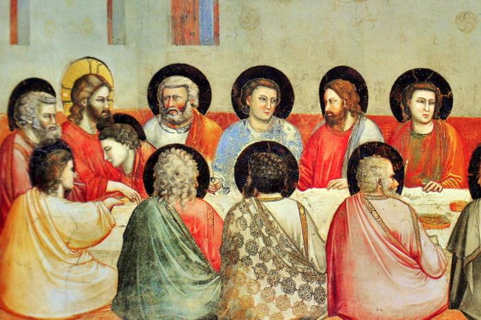 A Última Ceia, por Giotto