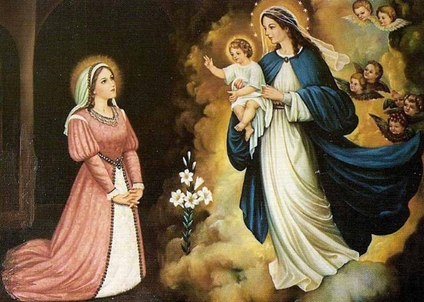 Nossa Senhora aparece a Santa Beatriz