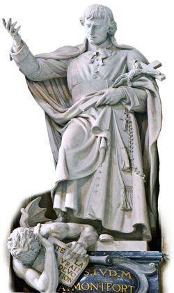São Luís Grignion fundamenta a consagração. Imagem na Basílica Vaticana