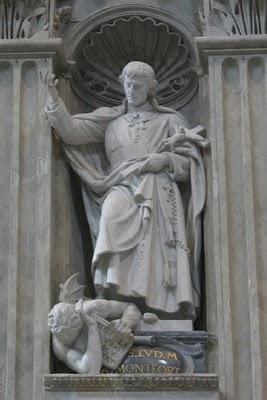 Imagem de São Luís Grignion na Basílica de São Pedro - Vaticano