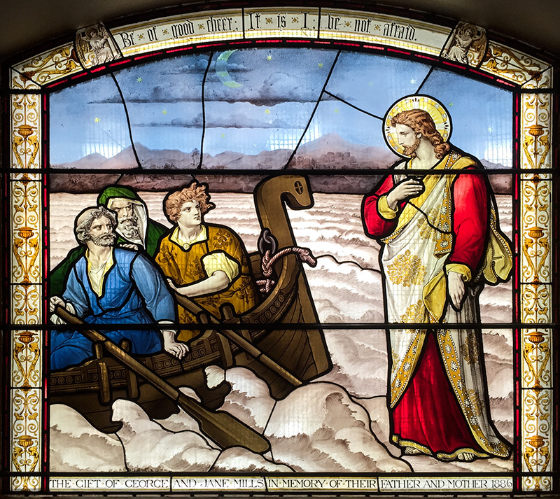 Jesus caminha sobre as águas - Igreja de Saint-Botolph, Londres