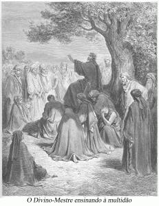 o Divino-Mestre ensinando à multidão