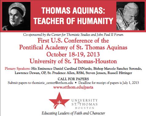 Conferência sobre São Tomás, em Houston