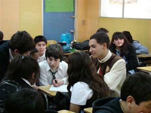 Visita de la Virgen Peregrina al colegio Lorenzo Sazié
