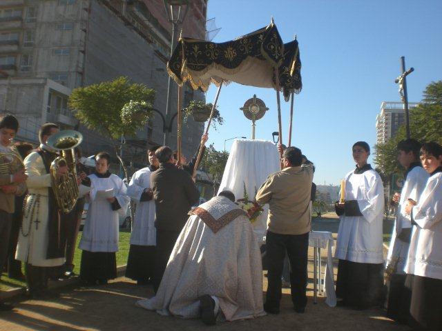 Procesión de Corpus Christi en Viña del Mar