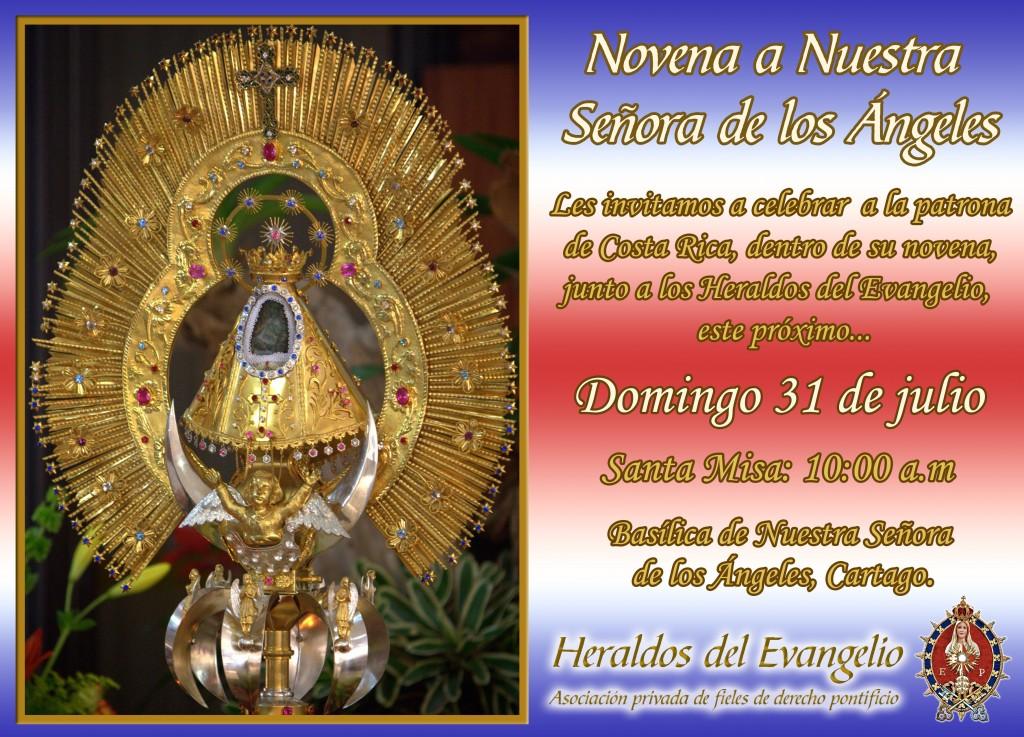 Invitación – Misa de la novena a Nuestra Señora de los Ángeles