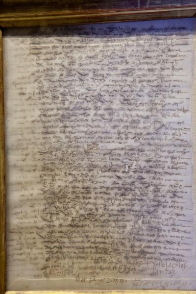 carta de pago firmada por santa teresa y otras monjas - monasterio de la encarnaci—n  - Avila, Spain