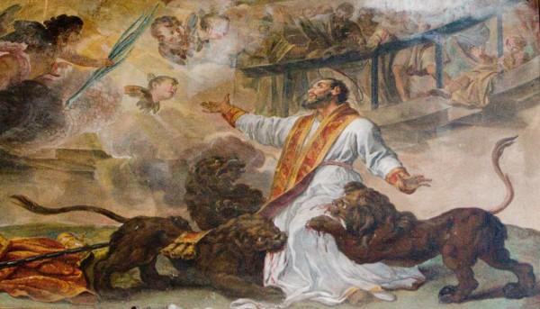 st ignatius of antioch martyrdom san clemente basilica Roma
