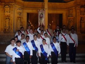 Miembros de la Orden Primera en la Catedral de Santo Domingo