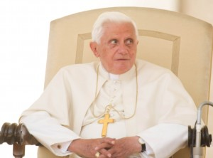 El Papa Benedicto XVI durante la audiencia general de los miércoles.