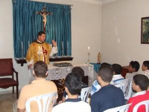 Celebración de la Palabra en la Sede Mater Boni Consilii de los Heraldos del Evangelio en Santo Domingo.