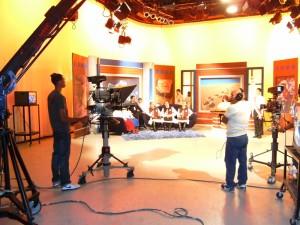 En el estudio del canal Teleantillas