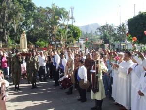 Entrada de la Santísima Virgen a la Parroquia