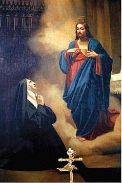 Il Sacro Cuore di Gesù e S. Margherita Maria Alacoque