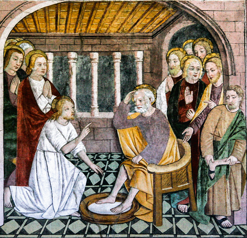 Araldi del Vangelo - Nostro Signore lava i piedi di San Pietro