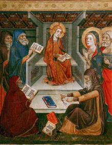 Gesù tra i dottori, del Maestro di Sigena
