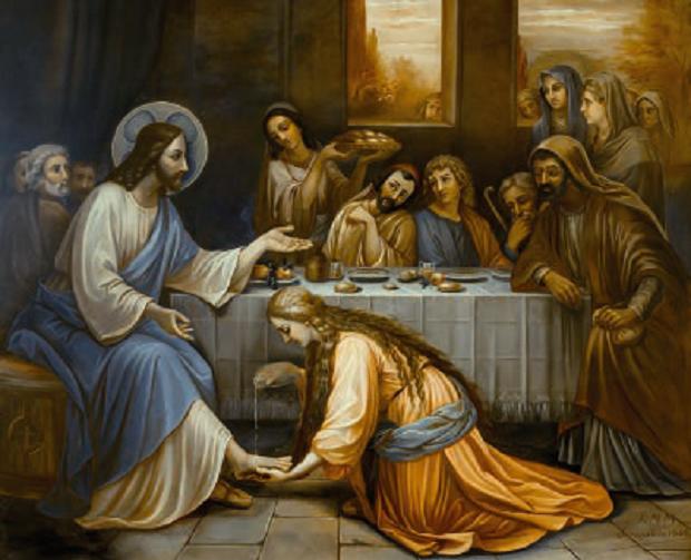 Nostro Signore è ricevuto da Simone – Casa delle Figlie della Carità, Betania (Terra Santa)