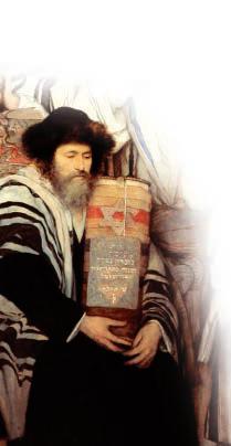 Ebrei pregano nella sinagoga nel giorno del Yom Kippur