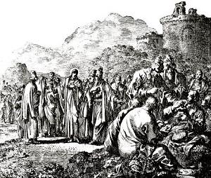 Nostro Signore discute con i farisei,